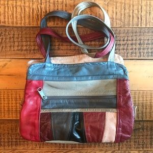 VINTAGE Leather Patchwork Purse ✨